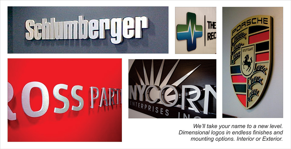 Interior Dimensional Signs