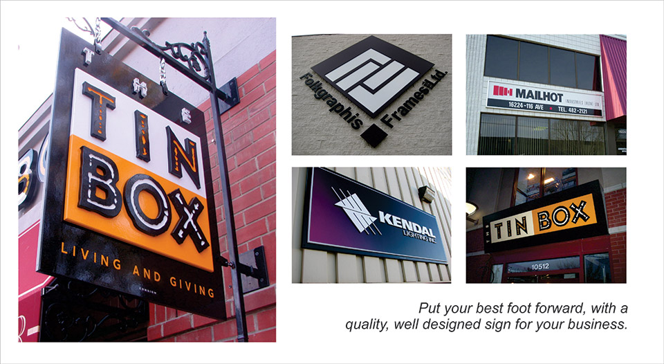 specialized business signs in Edmonton | Storefront Signs